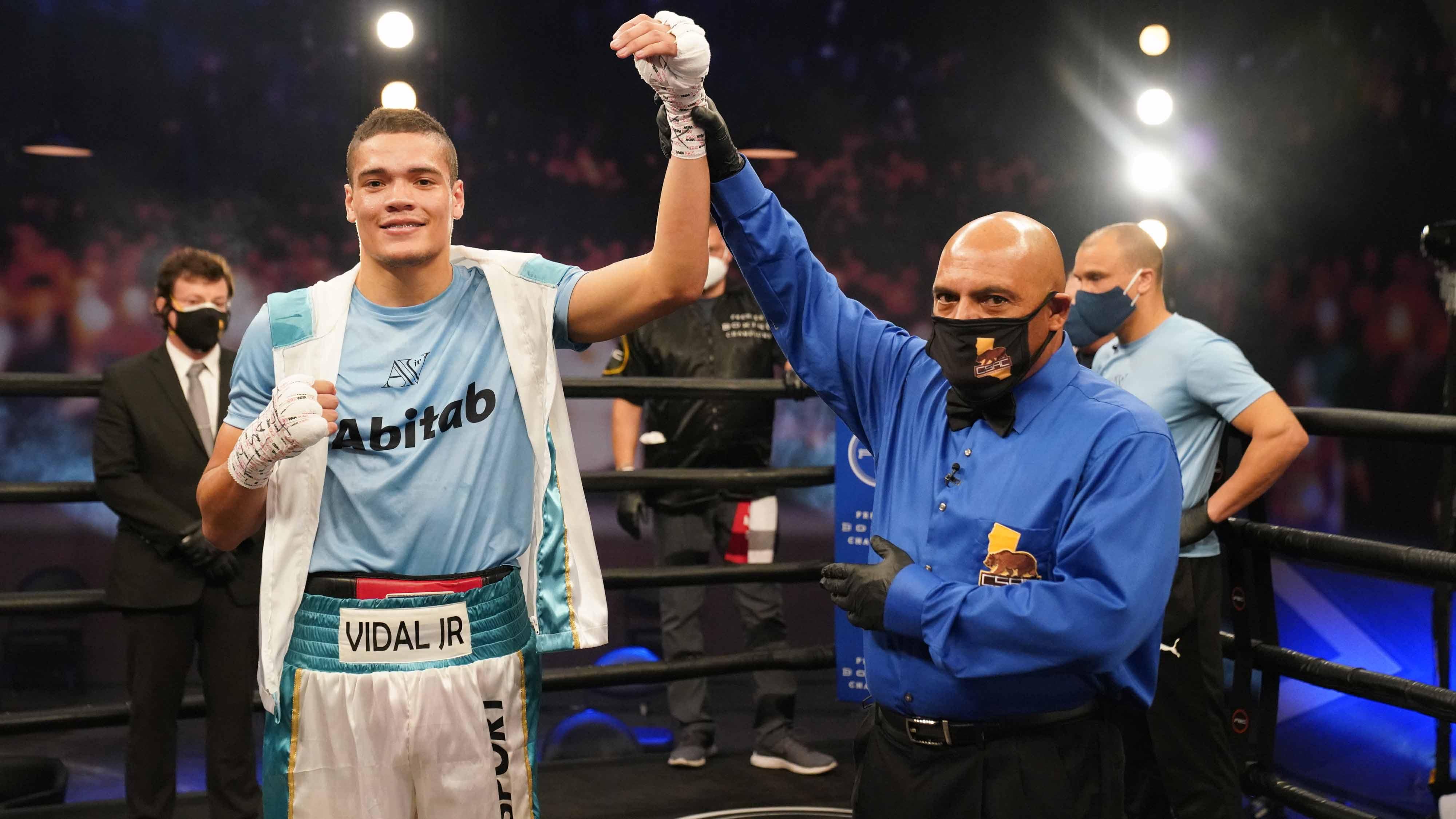 Amilcar Vidal Stops Edward Ortiz in Two