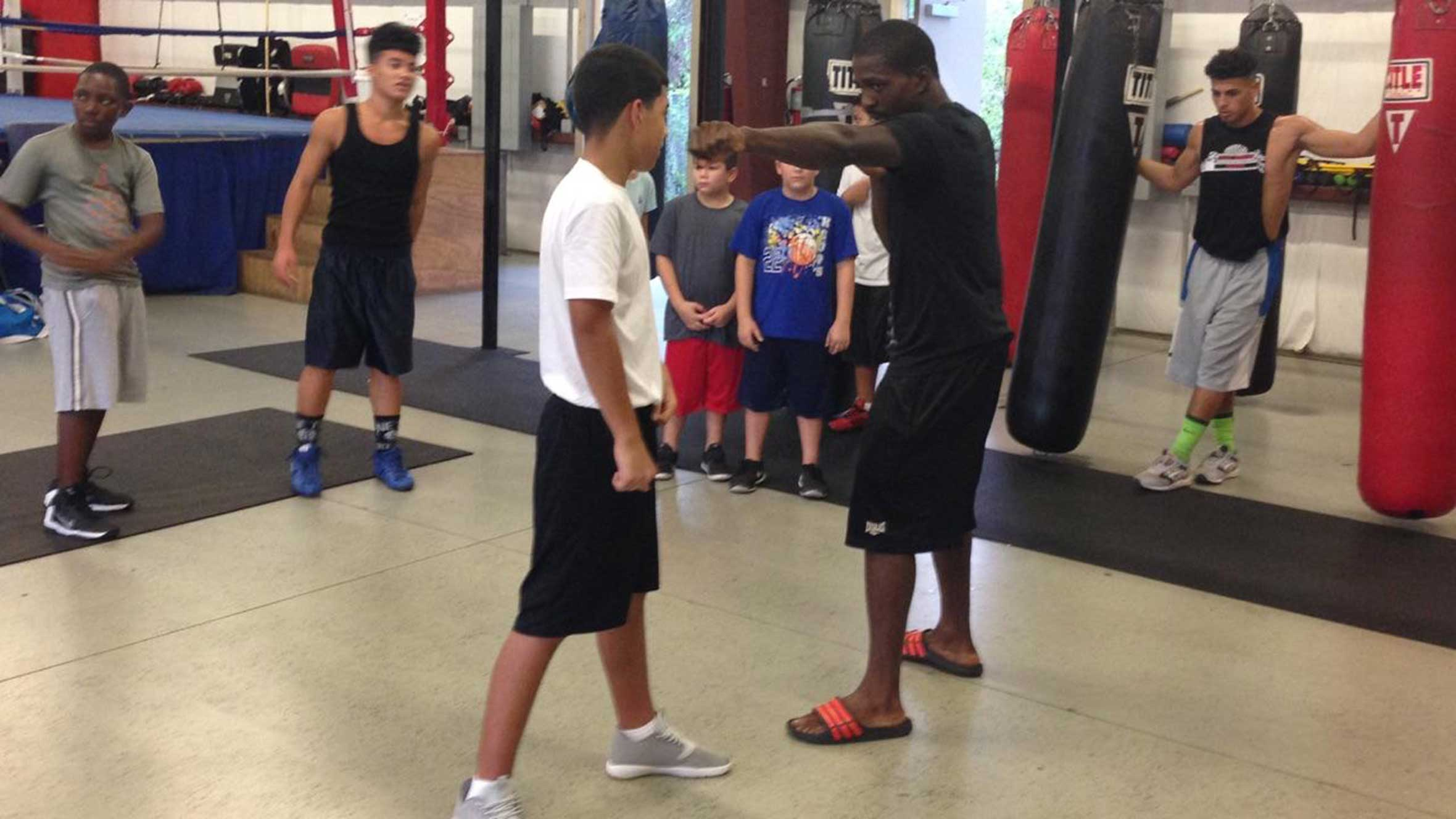 Thanks to youth boxing program, Wilky Campfort is making as