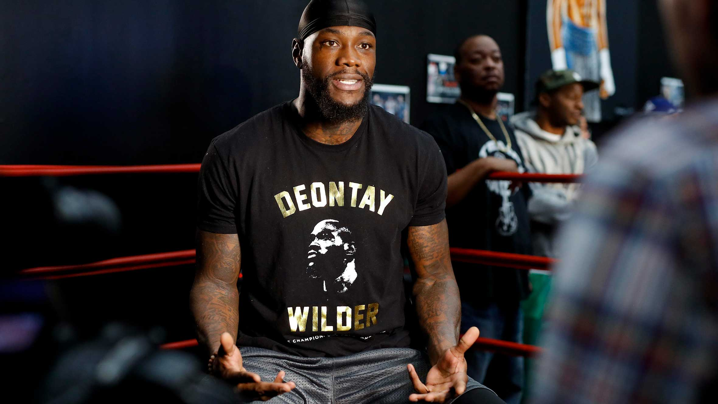 4e56065fe779 Deontay Wilder says Anthony Joshua afraid to face his in-person demand for  a title unification