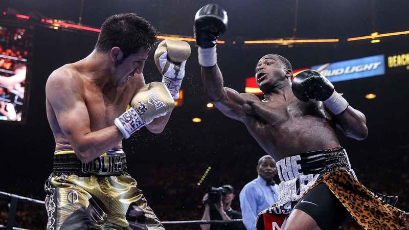Adrien Broner and John Molina Jr.