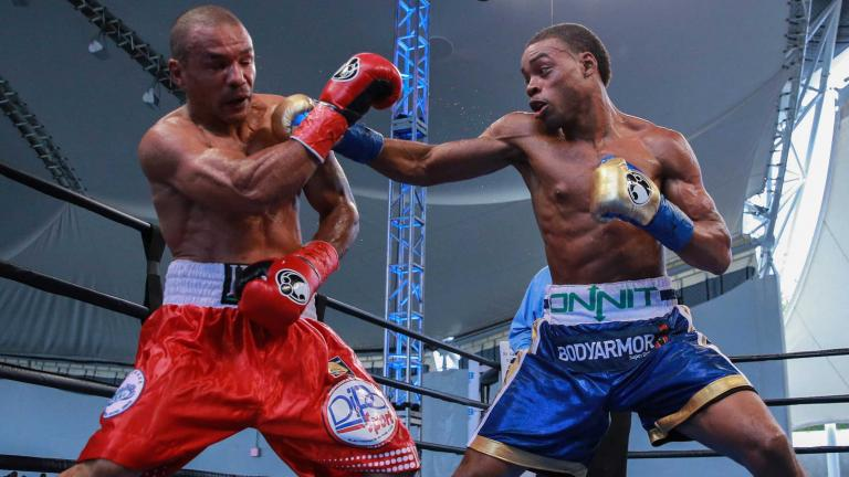 Errol Spence Jr. and Leonard Bundu