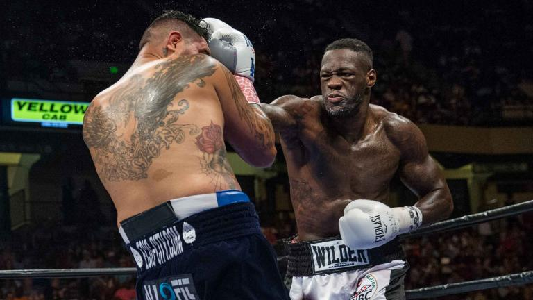Deontay Wilder and Chris Arreola
