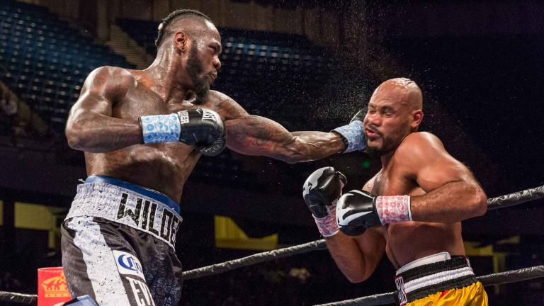 Deontay Wilder and Gerald Washington