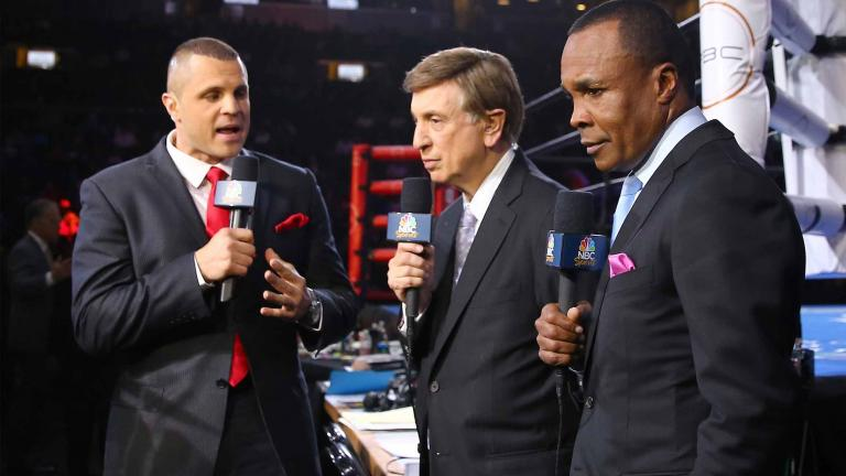 B.J. Flores, Marv Albert and Sugar Ray Leonard