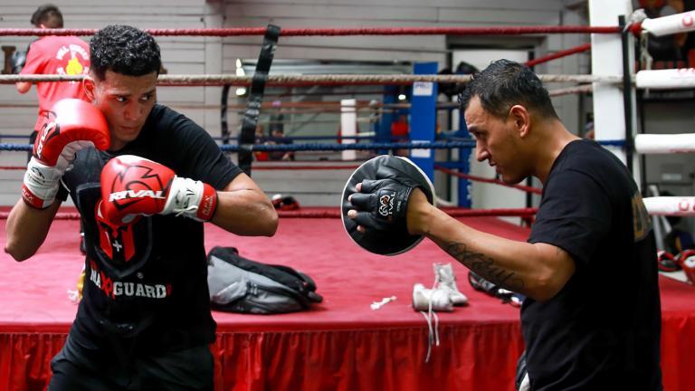 David Benavidez training