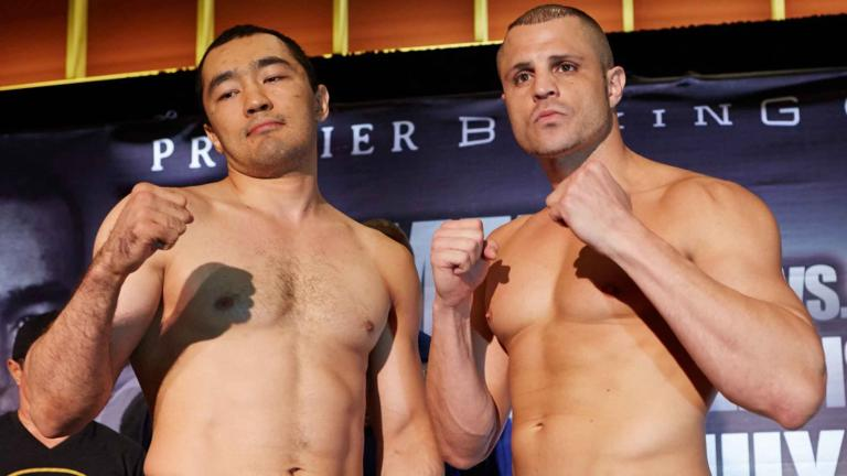 Beibut Shumenov and B.J. Flores