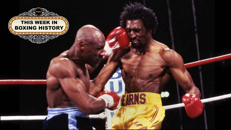 Marvin Hagler and Thomas Hearns