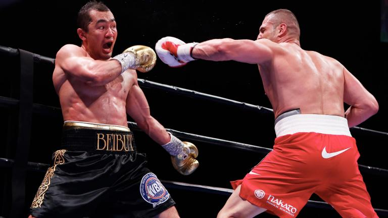 Beibut Shumenov and BJ Flores