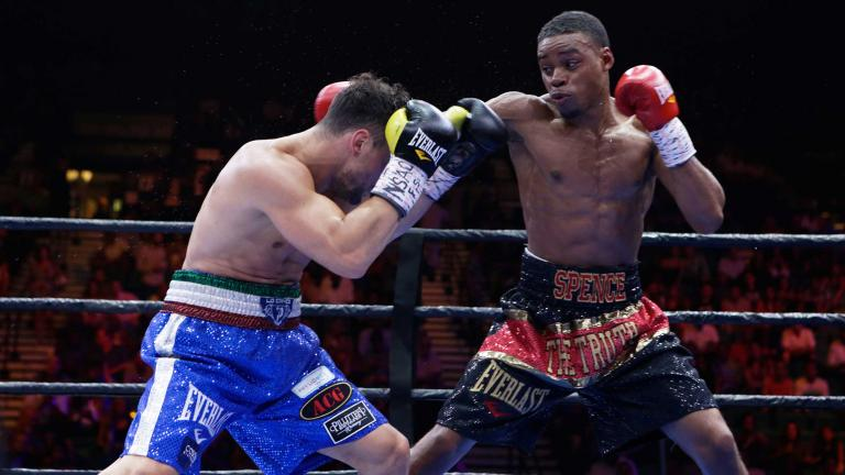 Phil Lo Greco and Errol Spence Jr.