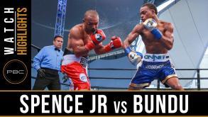 Spence Jr. vs Bundu highlights: August 21, 2016
