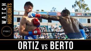 Ortiz vs Berto highlights: April 30, 2016