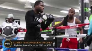 Adrien Broner trains for his fight against Shawn Porter on June 20, 2015