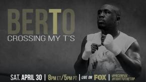 Andre Berto cross his Ts in preparation for Victor Ortiz on April 30