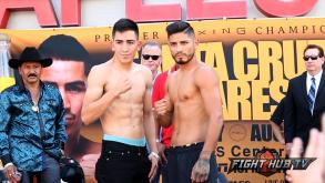 Abner Mares and Leo Santa Cruz weigh in