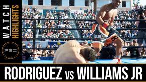Rodriguez vs Williams Jr highlights: April 30, 2016