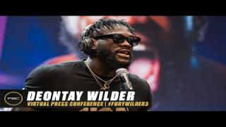 Embedded thumbnail for Deontay Wilder Virtual Press Conference | Full Replay