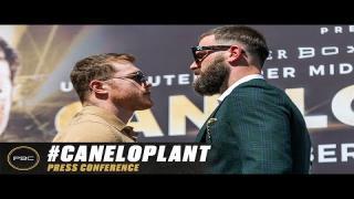 Embedded thumbnail for Canelo Alvarez vs Caleb Plant Kick-off Press Conference | Full Replay