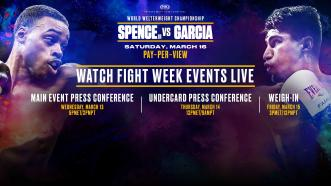 Watch Spence vs Garcia Fight Week Events Live on PBC
