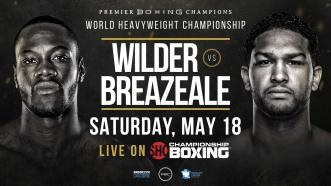 Deontay Wilder meets Dominic Breazeale May 18 on Showtime