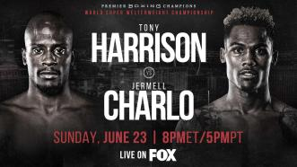 Super Welterweight Champ Tony Harrison rematches Jermell Charlo June 23 on FOX