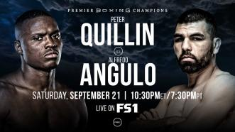 Former Champ Peter Quillin faces vet Alfredo Angulo Sept. 21 on FS1