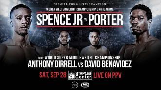Errol Spence Jr. meets Shawn Porter in 147-LB unification Sept. 28 on FOX