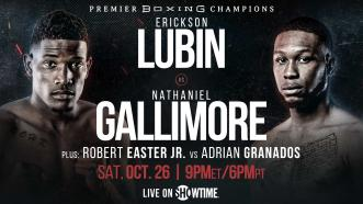 Erickson Lubin faces replacement Nathaniel Gallimore Oct. 26 on Showtime