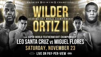 Deontay Wilder rematches Luis Ortiz Nov. 23 on FOX Sports PPV