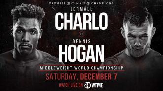 Middleweight Champ Jermall Charlo faces Dennis Hogan Dec. 7 on Showtime