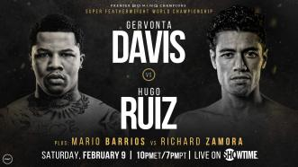 Hugo Ruiz replaces injured Abner Mares in WBA Super Featherweight title fight vs Gervonta Davis February 9 on Showtime