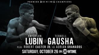 Top 154-LB contender Erickson Lubin faces U.S. Olympian Terrell Gausha Oct. 26 on Showtime