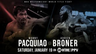 Manny Pacquiao returns to the U.S. to defend his welterweight title vs Adrien Broner Jan. 19 on Showtime PPV