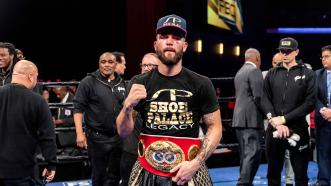 Caleb Plant dominates Jose Uzcategui to capture the IBF super middleweight world championship