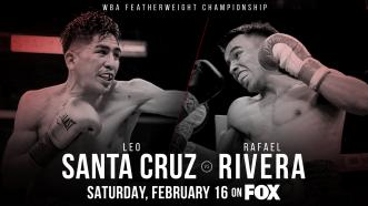 Mexico's Rafael Rivera replaces injured Miguel Flores in a Feb. 16 featherweight title fight vs Leo Santa Cruz