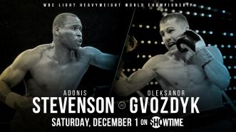 Light heavyweight champ Adonis Stevenson returns Dec. 1 in Quebec City, Canada