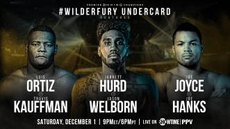 Unified 154-pound champion Jarrett Hurd returns to the ring Dec. 1 on the Wilder vs Fury Showtime PPV card
