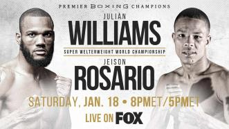 Unified 154-LB Champ Julian Williams makes Philly homecoming defense vs Jeison Rosario Jan. 18 on FOX