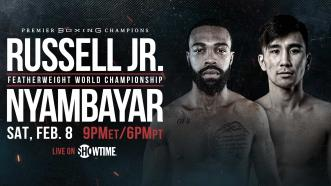 Featherweight Champ Gary Russell Jr. meets Tugstsogt Nyambayar Feb. 8 on SHOWTIME