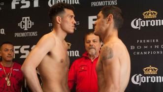"David Benavidez and Rogelio ""Porky"" Medina"