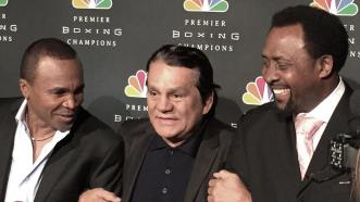 Roberto Duran, Sugar Ray Leonard, Thomas Hearns