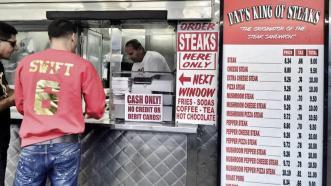 Danny Garcia orders a cheesesteak