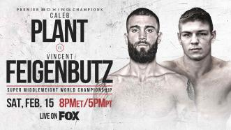 IBF Super Middleweight Champ Caleb Plant defends title in homecoming fight vs Vincent Feigenbutz Feb. 15 on FOX