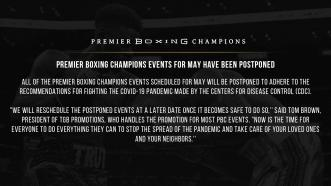 Upcoming PBC events for May have been postponed