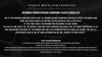 PBC Fights Cancelled Due to COVID-19 Concerns