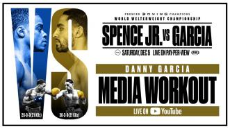 Spence vs Garcia: Danny Garcia Media Workout