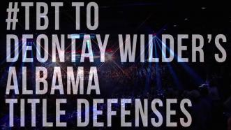 Deontay Wilder's Alabama Title Defenses