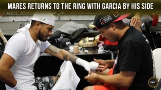 Abner Mares returns to the ring with Robert Garcia at his side