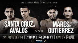 Santa Cruz vs Avalos and Mares vs Gutierrez Preview: October 14, 2017