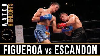 Figueroa vs Escandon - Watch Video Highlights | September 30, 2018