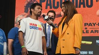 Manny Pacquiao and Yordenis Ugas FIRST INTERVIEW after weigh-in